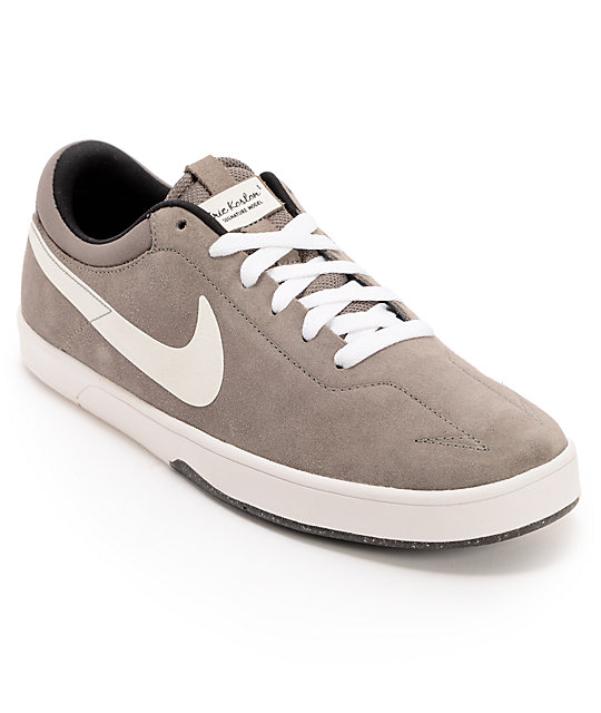 Nike SB Eric Koston Grey & White Suede Skate Shoes
