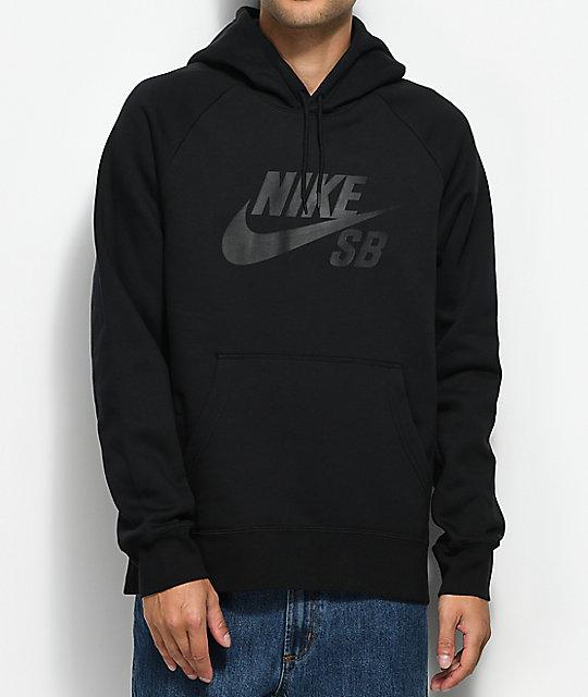 Nike SB Icon Black Hoodie | Zumiez.ca