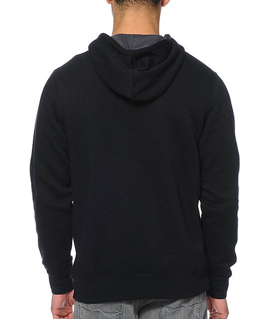 nike sb icon black pullover hoodie zumiez. Black Bedroom Furniture Sets. Home Design Ideas