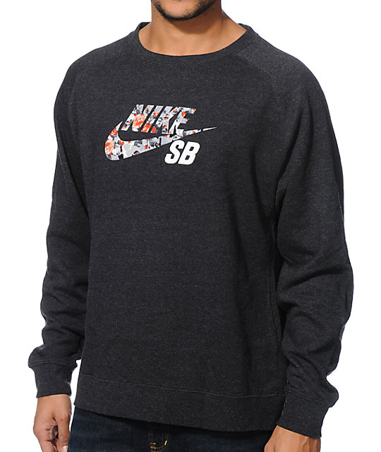 SB Icon Charcoal & Mandarin Crewneck Sweatshirt