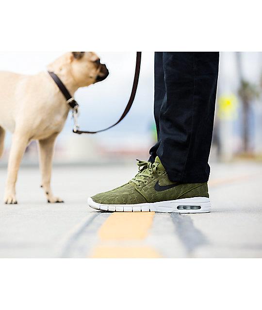 Nike SB Janoski Air Max Legion & Platinum Skate Shoes