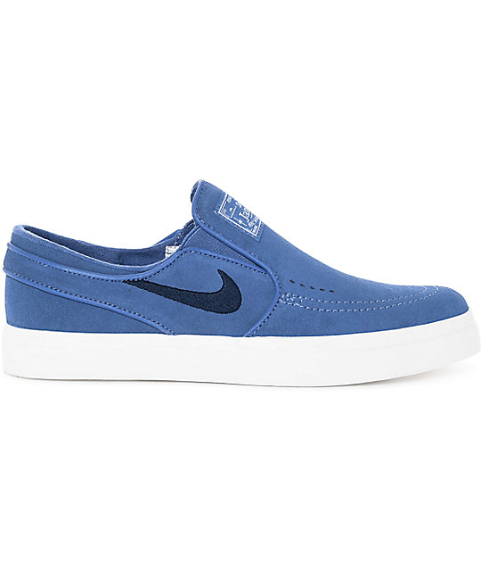 Nike SB Janoski Blue Moon Suede Slip On Women's Skate Shoes