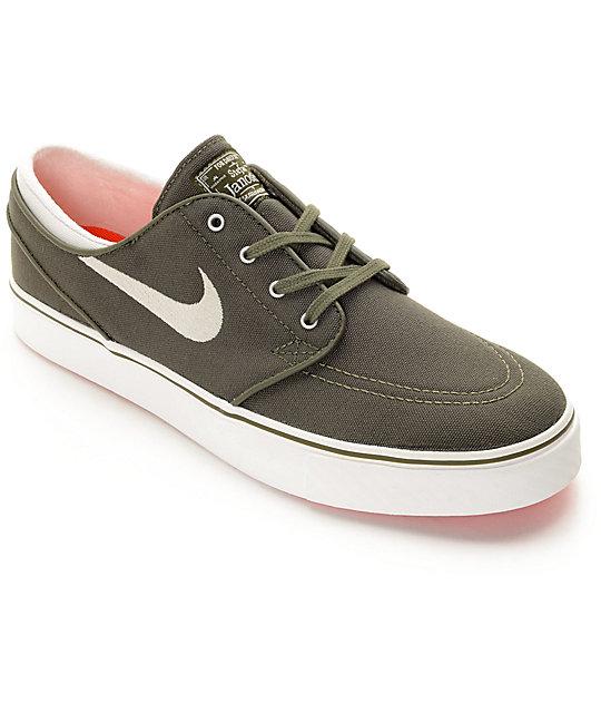 Nike SB Janoski Canvas Dark Green & White Canvas Skate