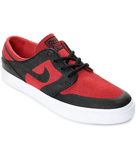 Nike SB Janoski Elite Gym Red & Black Skate Shoes