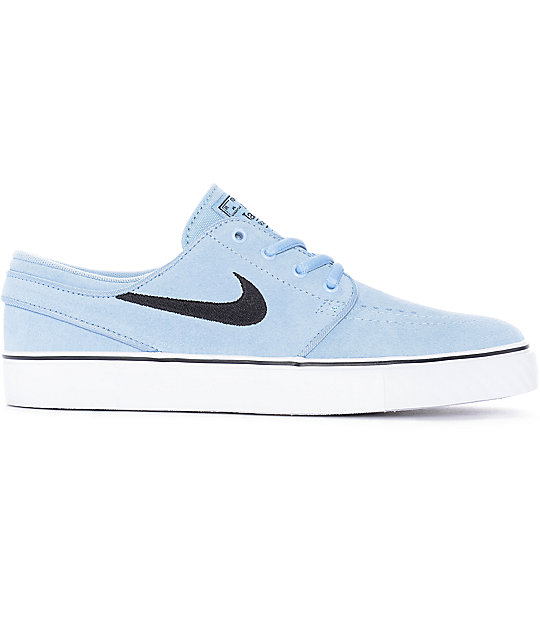 Nike SB Janoski Light Armory Blue Suede Women's Skate Shoes