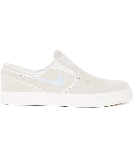 Nike Sb Janoski Summit White Suede Slip On Women S Skate Shoes