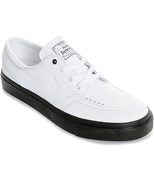 Nike Sb Janoski White Black Leather Women S Skate Shoes