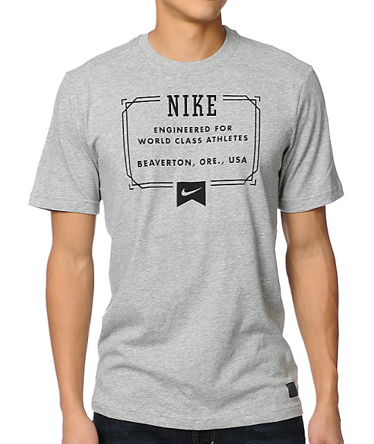 Nike SB Lock Up Heather Grey T-Shirt