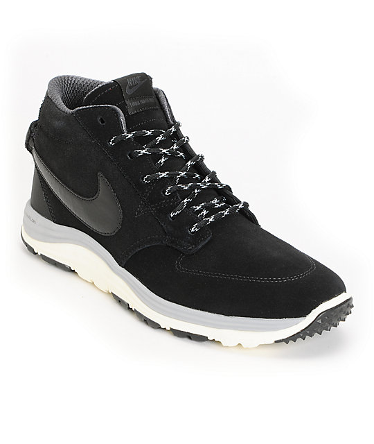 Nike SB Lunar Braata Mid OMS Black & Matte Silver Shoes