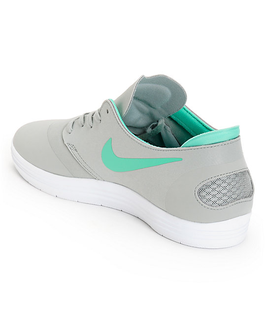 Nike SB Lunar Oneshot Base Grey & Crystal Mint Shoes