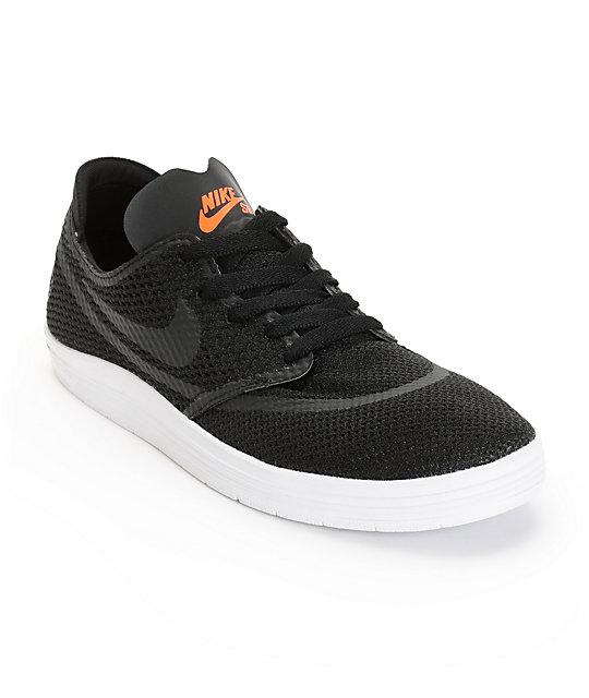 half off 84dc6 bb42b Nike SB Lunar Oneshot RR Black Hyper Crimson Skate Shoes .