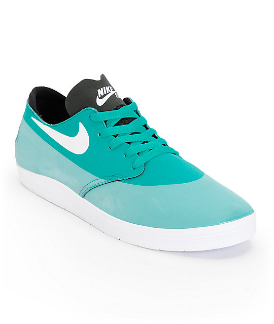 Nike SB Lunar Oneshot Turbo Green, White, & Black Shoes