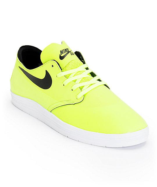 Nike SB Lunar Oneshot Volt & Black Skate Shoes