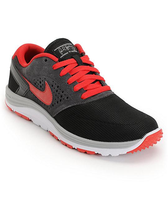 Nike SB Lunar Rod Black, Anthracite & Red Shoes