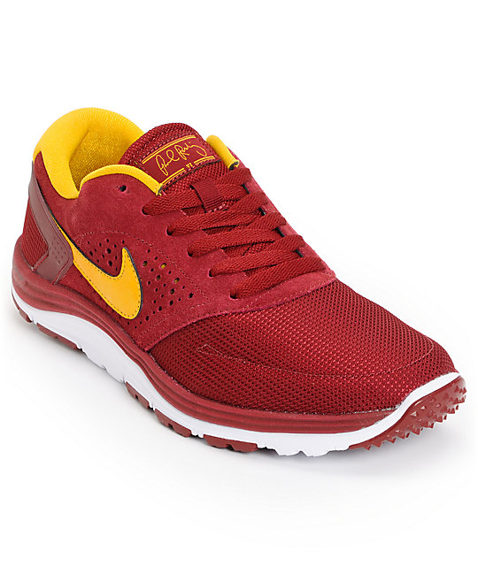 Nike SB Lunar Rod Team Red & Gold Shoes