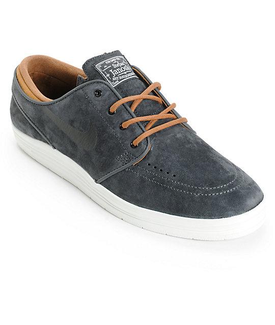 Nike SB Lunar Stefan Janoski Anthracite & Ale Brown Skate Shoes