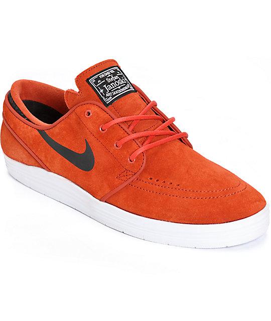 Nike SB Lunar Stefan Janoski Cinnabar & Black Skate Shoes
