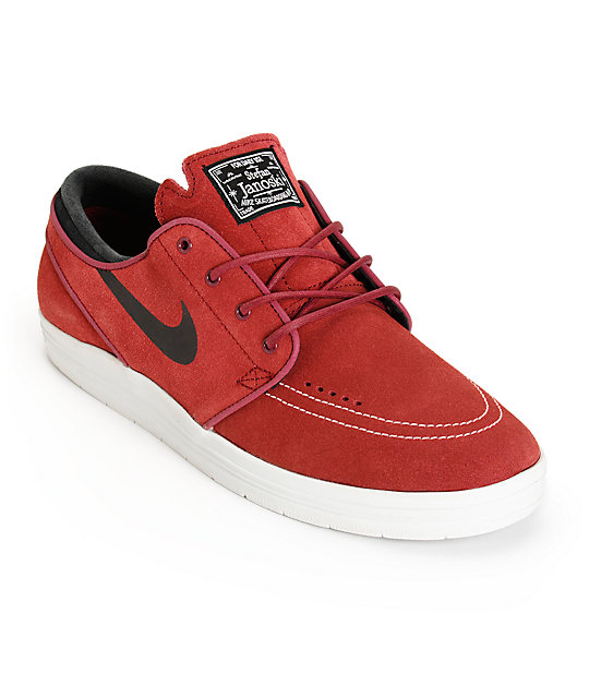 Nike SB Lunar Stefan Janoski Team Red & Black Skate Shoes