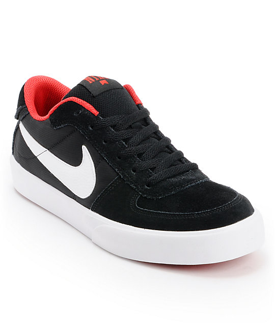 Nike SB Mavrk Black, White, & University Red Skate Shoes