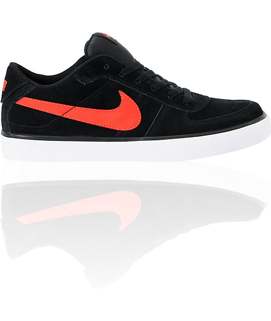 Nike SB Mavrk Low Black & Infrared Skate Shoes
