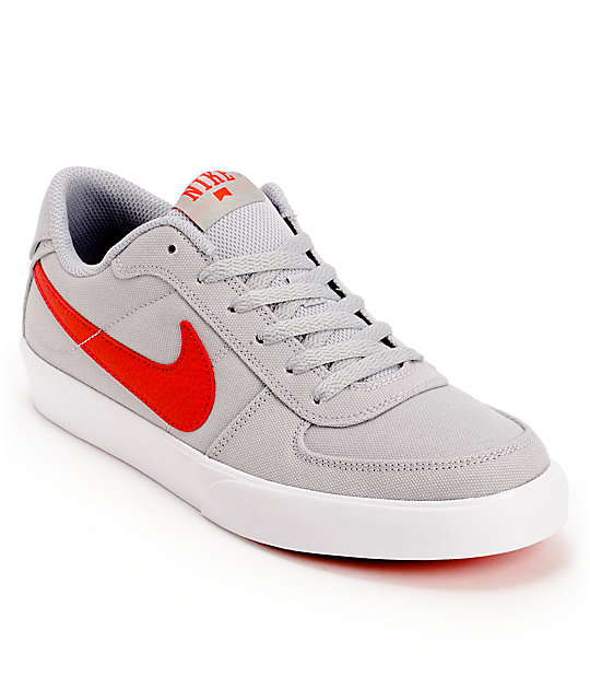 Grey And White Nike Court Shoes