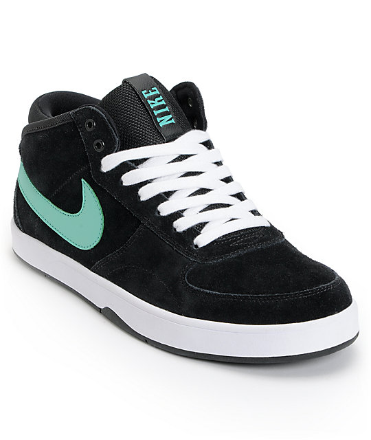 Nike SB Mavrk Mid 3 Black & Mint Suede Skate Shoes