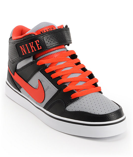 Nike SB Mogan Mid 2 SE Black, Pimento, & Stealth Suede Skate Shoes