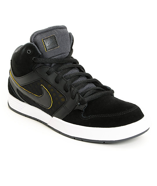 Nike SB Mogan Mid 3 Lunarlon Black, Anthracite & Tour Yellow Shoes
