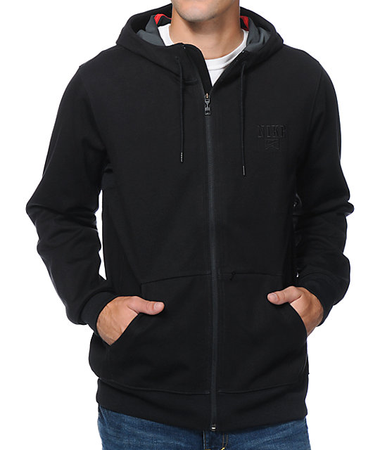 Nike SB Northrup Black Tech Fleece Hooded Jacket