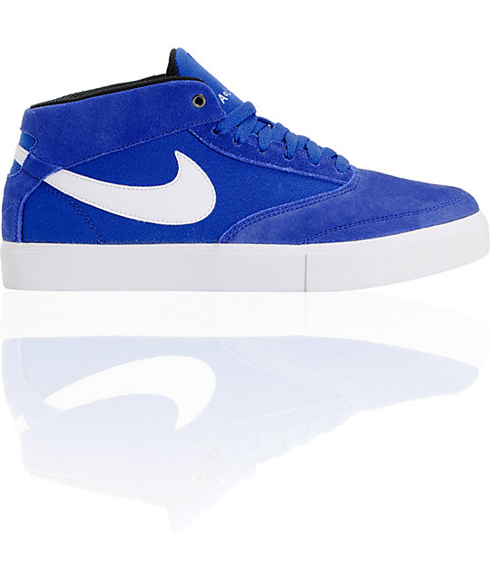 Nike SB Omar Salazar LR Drenched Blue & White Mid Top Skate Shoes