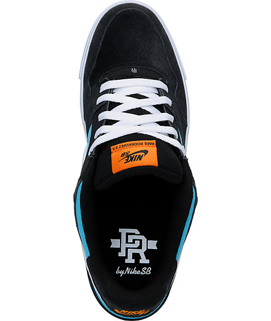 Nike SB P-Rod 2.5 Black & Blue Skate Shoes