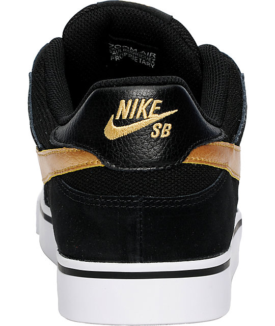 Nike SB P-Rod 2.5 Black & Gold Shoes