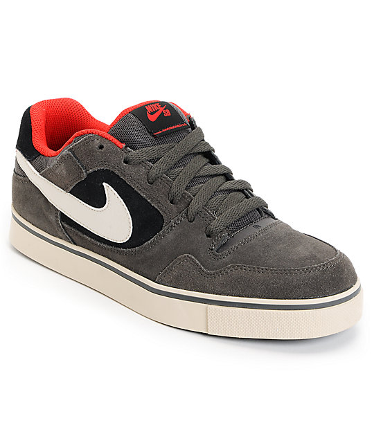 Nike SB P-Rod 2.5 Fog, Birch, & Black Suede Skate Shoes