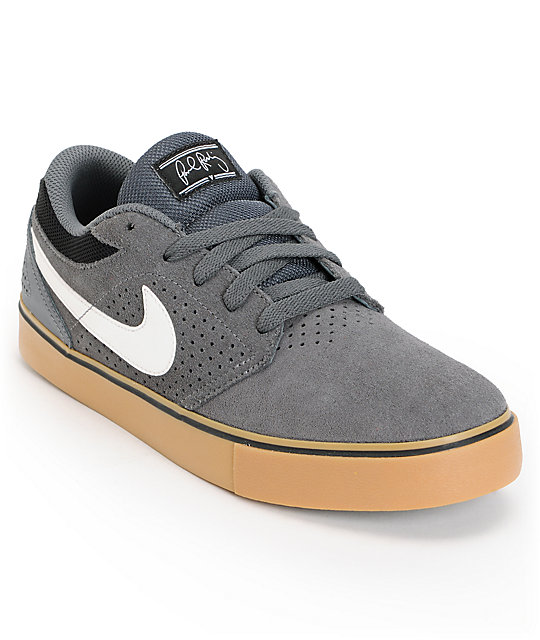 Nike SB P-Rod 5 LR Dark Grey & Gum Skate Shoes