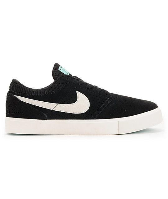Nike SB P-Rod 5 LR Lunarlon Black & Mint Skate Shoes