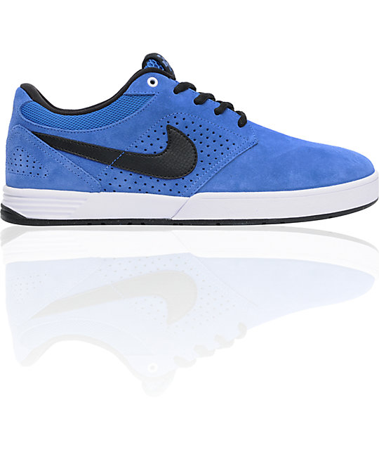 Nike SB P-Rod 5 Low Lunarlon Varsity Royal & Black Skate Shoes