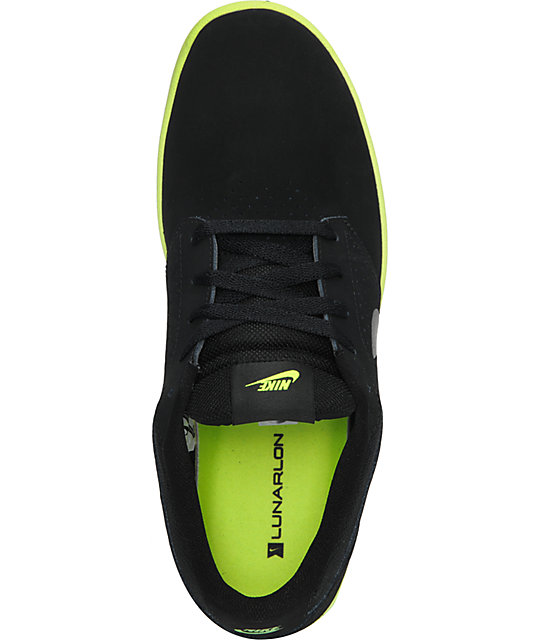 Nike SB P-Rod 5 Lunarlon Black & Volt Skate Shoes