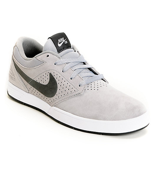 Nike SB P-Rod 5 Lunarlon Matte Silver, Black & Anthracite Skate Shoes