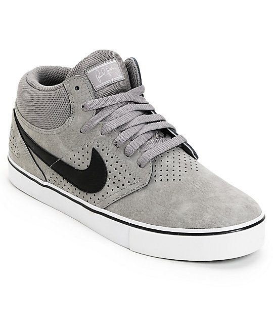 Nike SB P-Rod 5 Mid LR Soft Grey, Black & Neutral Grey Skate Shoes
