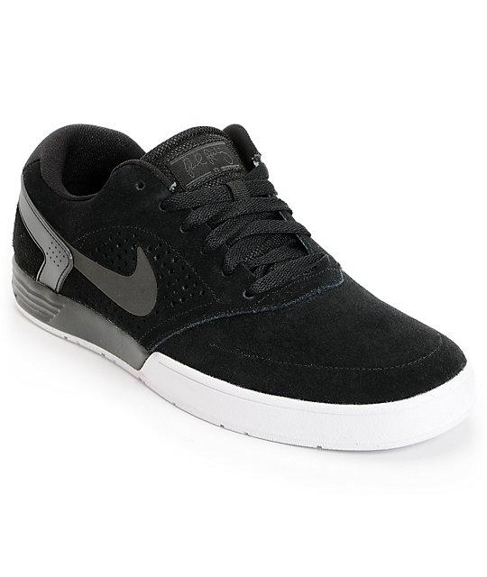 Nike SB P-Rod 6 LR Lunarlon Black & White Skate Shoes