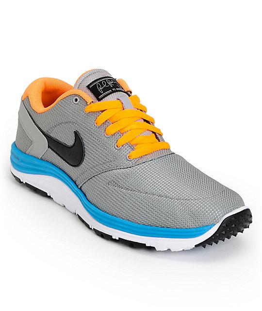 Nike SB P-Rod 6 Lunar Rod Medium Grey, Black & Bright Citrus Shoes