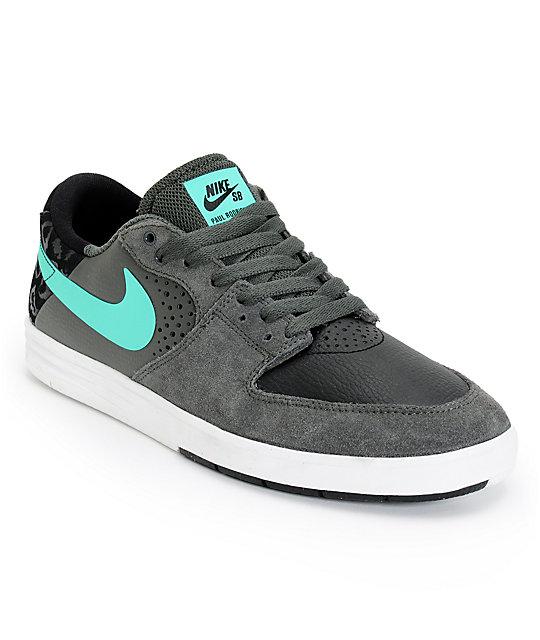 Nike SB P-Rod 7 Low Black, Grey, & Mint Skate Shoes at ...