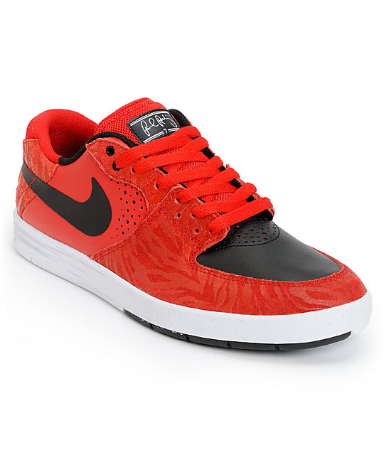 Nike SB P-Rod 7 Premium Low University Red, Black, & White Shoes