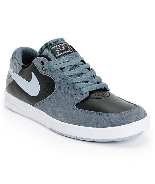 Nike SB P-Rod 7 Premium Slate Grey & Black Skate Shoes at ...