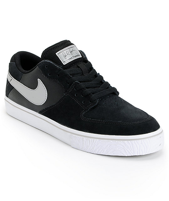 Nike SB P-Rod 7 VR Black, White, & Silver Skate Shoes