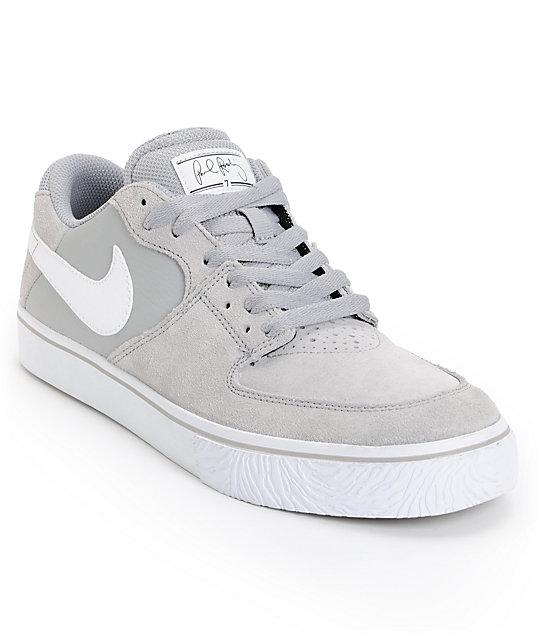 Nike SB P-Rod 7 VR Matte Silver & White Skate Shoe at ...