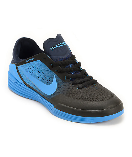 Nike SB P-Rod 8 Black & Photo Blue Skate Shoes