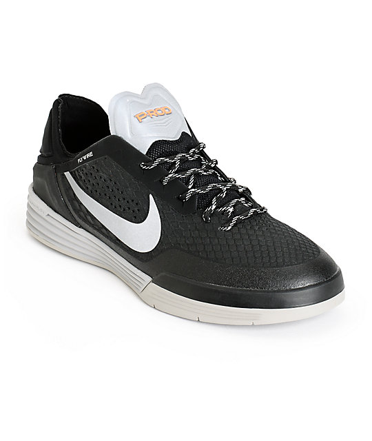 Nike SB P-Rod 8 Shield Black & Reflective Silver Skate Shoes