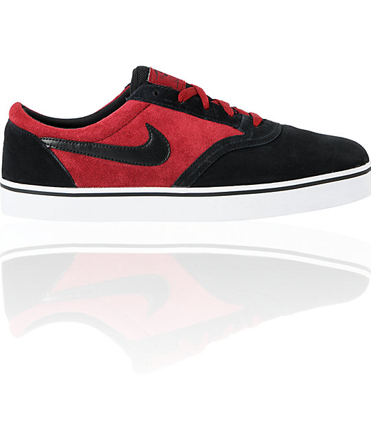 Nike SB P-Rod Vulc Rod Team Red & Black Skate Shoes
