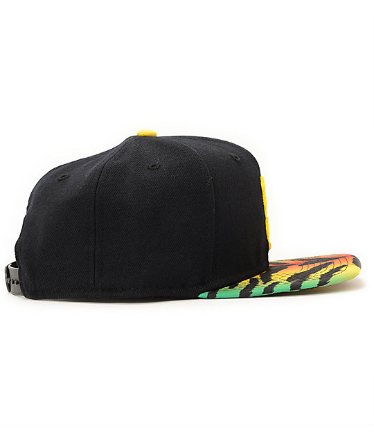 Nike SB Party Black & Yellow Tiger Snapback Hat